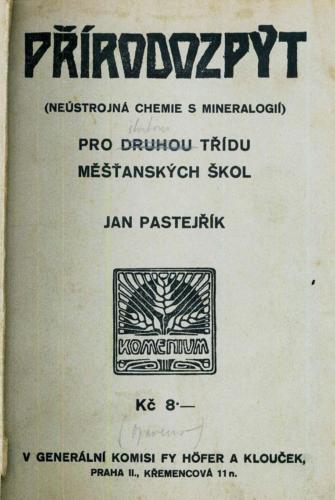 Pastejrik Prirodozpyt NeustrojnaChemiesMineralogii ProIITridu Mest Skol 1934 Stránka 00