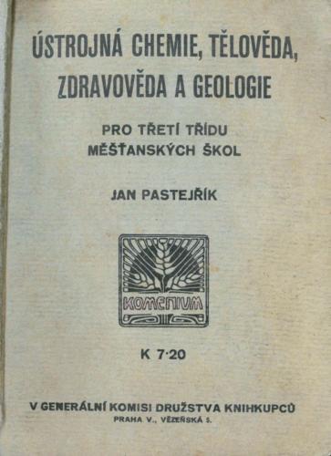 Pastejrik UstrojnaChemieTelovedaZdravovedaGeologie 1936 Stránka 01