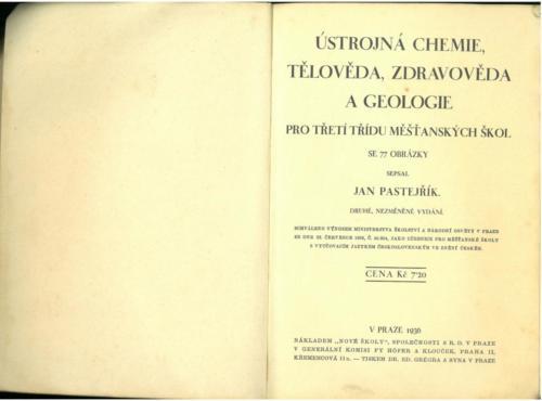 Pastejrik UstrojnaChemieTelovedaZdravovedaGeologie 1936 Stránka 02