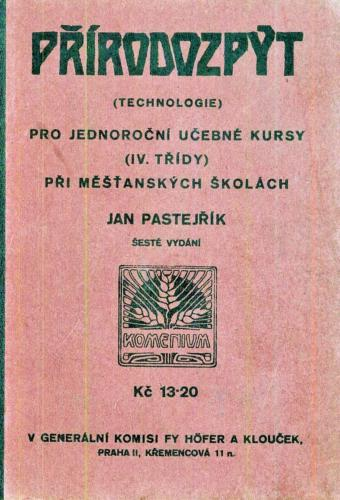 Pastejrik Prirodozpyt Technologie ProJednorocniUcebneKursy IV 1933 Stránka 01
