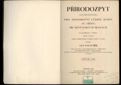 Pastejrik Prirodozpyt Technologie ProJednorocniUcebneKursy IV 1933 Stránka 04